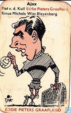 Overig - Monty Factories, Leiden - Dik Bruynesteyn kwartetkaart Retro Football, Football Design, Football Cards, Football Players, Everton Fc, Vintage Magazines, Soccer, History, Memes