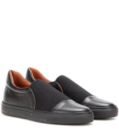 Slip-on en cuir noir