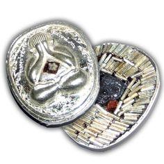 Pra Pid Ta Pokasap Solid Silver Ongk Kroo Model with 108 Takrut, Gemstone, Relics, and Tiger Amulet by Luang Por Supoj of Wat Huang Pattana | $369.00