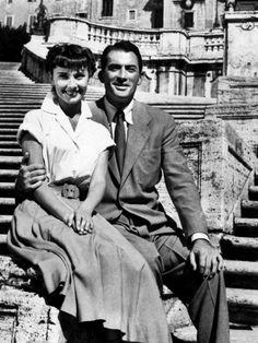 """Audrey Hepburn y Gregory Peck en el rodaje de Vacaciones en Roma, 1953 """"Me gustaba mucho, de hecho, me encantó Audrey. Era fácil amarla """"La mayoría de la gente tomó su último estado de cuenta de lo que significaba -. Una afirmación de la amistad amorosa - e interpretado nada más. Pero la pregunta de un asunto se rumoreaba desde hace décadas por los que cenar en rumores o cocinar para los demás. (...) Los espíritus elevados de Hepburn y Peck y su colaboración relajado, genial sin duda contr"""