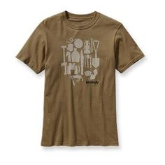 Patagonia Men's Live Simply™ Camping T-Shirt  This is a reminder for future Linda to buy this for Travis at some point...can safely do this and know he will neeeeever look here :P