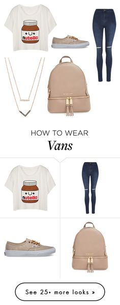 """nutella"" by shaffersar on Polyvore featuring George, Vans, MICHAEL Michael Kors and Michael Kors"