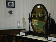 Vanity Mirror with 2 drawers, sits on top of dresser or table, solid wood $165, Item #ML-1006, in stock  http://www.findandtreasure.com/catalogue.html
