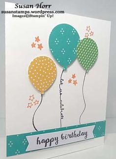 Balloon Celebration, Stampin Up, #imbringingbirthdaysback, susanstamps.wordpress.com