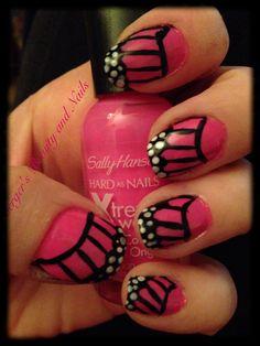 Butterfly nail design #bergersbeautyandnails #nailart