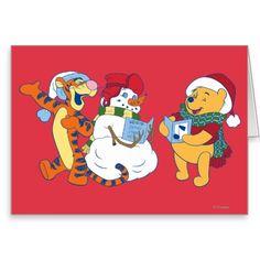 Tigger and Pooh Carolling Greeting Card