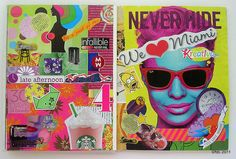 LOVE these bright journal pages by deLoto!
