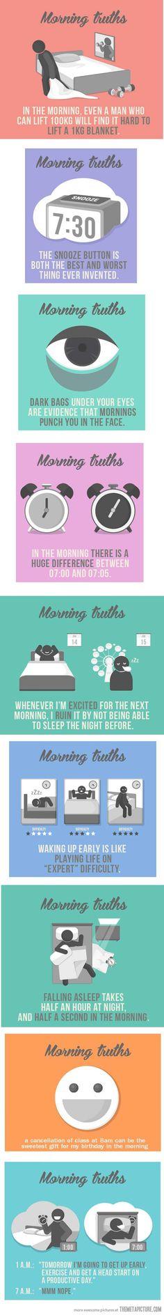 Morning truths…