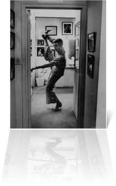 Actress Angela Lansbury Limbering Up for Jerry Hermans Hit Broadway Show Mame 1966