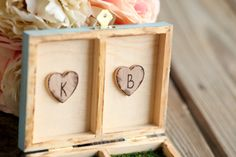 Items similar to Rustic Personalized Wooden Ring Box different colors available on Etsy Wooden Ring Box, Wooden Rings, Twinkle Twinkle, Woodworking, Rustic, Unique Jewelry, Colors, Handmade Gifts, Frame
