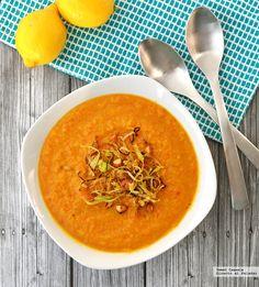 Prepara una sopa de coliflor, pimientos y cúrcuma. Con fotos del paso a paso y consejos de degustación...