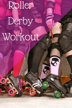 So I am trying to improve my game.which means I need to work on building some muscles. I do this roller derby workout regularly, and it's helping! Roller Derby Clothes, Roller Derby Skates, Quad Skates, Roller Skating, Roller Rink, Roller Disco, Roller Derby Drills, Derby Names, Roller Workout
