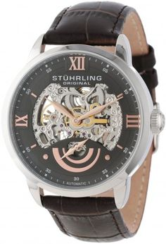 Stuhrling Original 574.03 EXECUTIVE II Automatic Skeleton Watch For Men