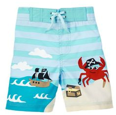 New Baby Gifts:  Pirate Crab Swim Trunks for Baby Boys @ Gymboree