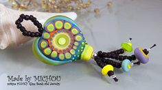 Twelve at Heart Art Glass lampwork Pendant by by MichouJewelry