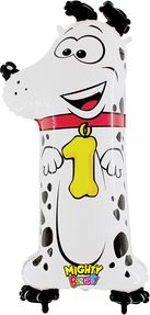 Numeral 1 Zooloons Dog Balloon