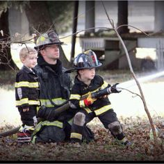 Firefighter Father and sons