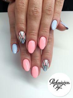 Kolorowe geometryczne paznokcie :)  #piekniejszaty #manicure #hybryda #nails #hybrid #geometry