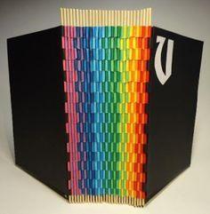 Buchbinden - papelmarcante: Piano Hinge - Livro arco-íris - Tutorial II