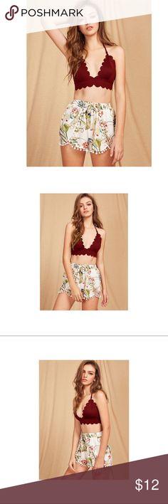 🍁Triangle halter bralette🍁 Brand new with tag. No trade ❤️ Intimates & Sleepwear Bras