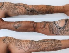 topography tattoo - Google Search