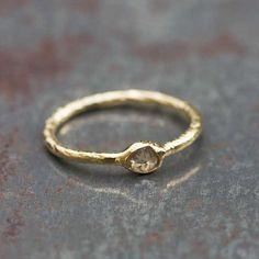 Bague Lala vermeil et diamant rose cut 5 Octobre, sélection Barbara de Rouville pour l'Atelier des Bijoux Créateurs.