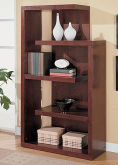 800256 Cappuccino Bookcase with Nice Wood Making and Separate Design | New $599 SALE $452 Friends Discounted Price $339.00