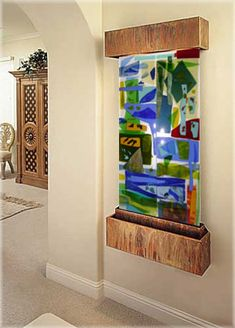 WaterWall with Contemporary Glass
