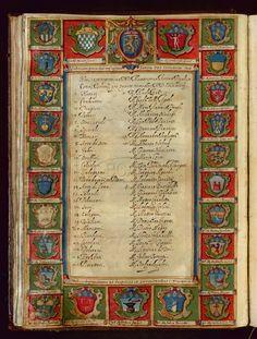 Nomi, cognomi e stemmi dei Signori di Collegio... - Biblioteca dell'Archiginnasio