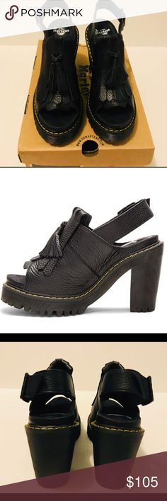 fe967de8953d NWT Dr. Martens Seraphina Black New with box UK 6 US 8 BRAND NEW never