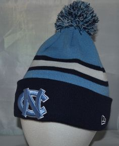 10adbe7b3e3 UNC Tarheels Sports Knit Pom Top Cuffed Beanie Winter Cap Hat Authentic New  Era  NewEra