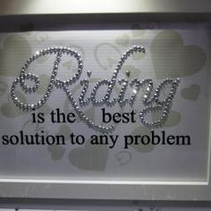 Riding Solution Problem, Sparkle Word Art Pictures, Quotes, Sayings, Home Decor