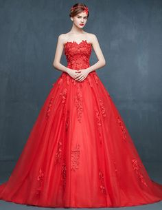 Robe de mariee sirene rouge  Rode rouge