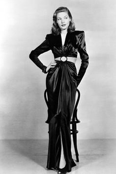 Lauren Bacall was the ultimate. Those shoulders! The perfect, cropped waist. Glamour to the max.