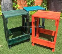 rustic pallet side tables