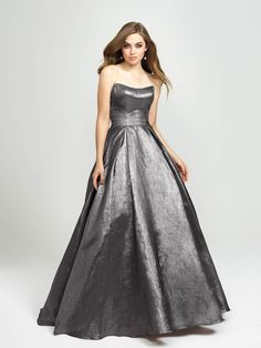 a11262f9a1f3  350 Madison James - 19-111 Strapless Glitter Mikado Ballgown – Couture  Candy Prom Dress