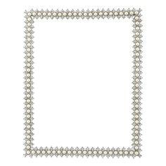 Olivia Riegel Picture Frame Crystal & Pearl 8 x 10 in.
