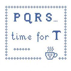 Tea Time Cross Stitch Project