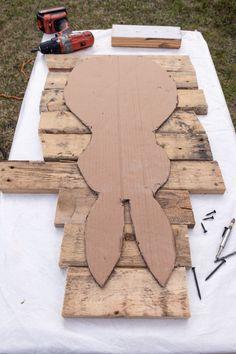 Pallet Crafts, Wood Crafts, Diy Crafts, Bunny Crafts, Easter Crafts, Spring Crafts, Holiday Crafts, Wood Pallets, Pallet Wood