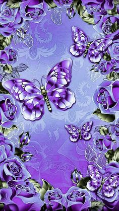 Image uploaded by Find images and videos on We Heart It - the app to get lost in what you love. Flower Phone Wallpaper, Purple Wallpaper, Butterfly Wallpaper, Love Wallpaper, Cellphone Wallpaper, Wallpaper Backgrounds, Iphone Wallpaper, Butterfly Background, Purple Butterfly