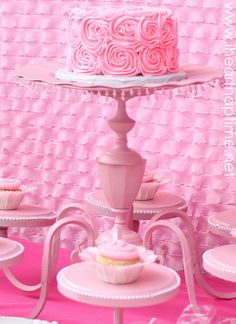 Turn an old chandelier into a beautiful cake stand