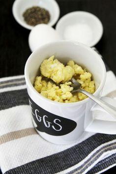 2-Minute Mug Scrambled Eggs