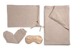 4-Piece Cashmere Blend Travel Set, Sand on OneKingsLane.com