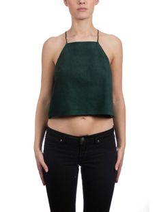 The Suede Crop Emerald