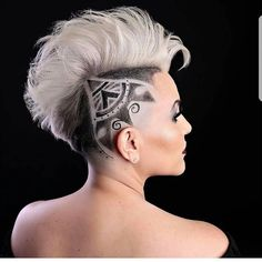 30 Phenomenal Undercut Designs For The Bold And Edgy Undercut Designs, Medium Hair Styles, Natural Hair Styles, Short Hair Styles, Undercut Hairstyles, Cool Hairstyles, Hair Tattoo Designs, Shave Designs, Shaved Hair Designs