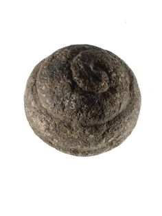 Carved stone ball with spiral ornament, from Buchan, Aberdeenshire, 3200 - 2500 BC Date: 3200 - 2500 BC Material: Granite, red Collection place: Buchan, Aberdeenshire, Scotland, EUROPE
