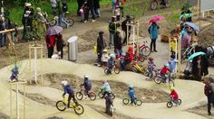 Tour de Pump, stage 6, Bikepark Zürich. The weather game seems to be a pattern of the Tour de Pump. It only took a few laps in the brand new...