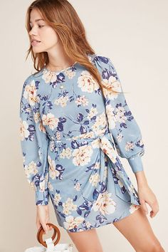 Yumi Kim Yvonne Floral Mini Dress by in Assorted Size: Xs, Women's Dresses at Anthropologie Sorority Recruitment Outfits, Unique Dresses, Casual Dresses, Sweater Dresses, Dresses Dresses, Mini Dresses, Ball Dresses, Wrap Dress Floral, Boho Outfits