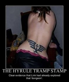 Hyrule Tramp Stamp ---------- OMG... LMAO ... bad tattoo.....
