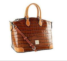 Dooney & Bourke Croc Embossed Leather Satchel from QVC.  Regardless of what you're wearing, this croc-embossed leather satchel will speak to your good taste and sophistication.  Get your rebate from RebateBlast.